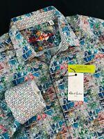 Robert Graham Clanton Abstract Long Sleeve Sport Shirt XL $198