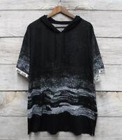 Shirt Marc Ecko Cut & Sew Mens Size 2X Black & White Classic Fit Hooded New