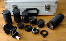 Job lot Various M42 Lenses and accessories inc Carl Zeiss Jena Panacolar x2