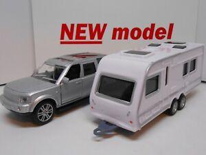 TOY CAR & CARAVAN SET MODEL BOY DAD GIRL MOM  BIRTHDAY GIFT PRESENT NEW BOXED