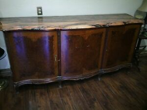 Turn Of The Century French Country, Provincial Buffet W/Marble top