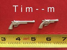 2 Custom Silver gun s pistol s for the Hartland Wyatt Earp Figure Buntline & Reg