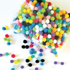 Glitter pom poms / MINI pompoms / Mixed Colors Soft Fluffy Pompoms-1.2cm, 100g