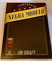 """CERVEZA NEGRA MODELO BEER ON DRAFT Advertising Dry Erase Sign Crown Imports 29"""""""
