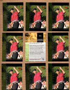 10 card Lot of 2001 Upper Deck Tiger's Tales #TT18 Tiger Woods