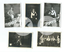 STALAG XI-B Camp Prisonniers GUERRE Allemagne Travesti 5 Photos 1940s #1