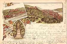 Heidelberg Germany Gruss aus Scenic Views Antique Postcard J42103