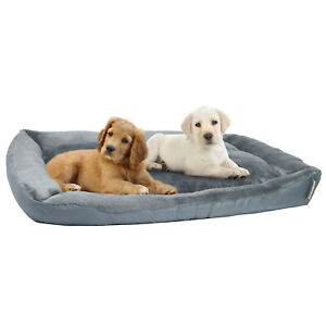 Large SOFT PET BED Dog Cat Puppy Kitten Padded Sofa Sleeping Grey Floor Mat