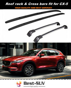 Fits for Mazda CX-5 CX5 2017-2021 Crossbar Cross bar Roof Rack Baggage Rail Kit