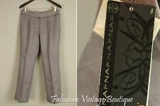 NWT New NAFNAF 100% Linen Straight Wide Leg Casual Dress Pants Trouser Slacks 42
