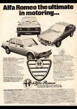 "1979 ALFA ROMEO ALFETTA GTV2000 AD A2 CANVAS PRINT POSTER FRAMED 23.4""x16.5"""
