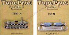 TonePros METRIC Pre-Notched Bridge & Tailpiece Set - NICKEL LPM02/N