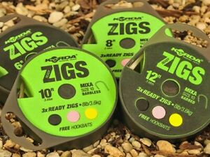 Korda Ready Zig Rig ALL SIZES