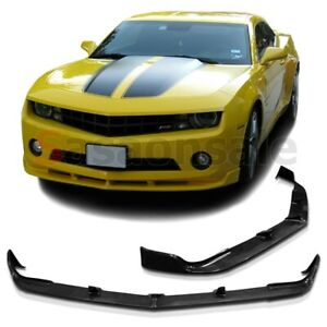Made for 2010-2013 CHEVY CAMARO LT LS V6 Only STL Style USDM Front PU Bumper Lip