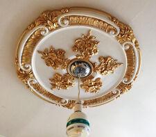 Deckenrosette Rotgold Weiß Viktorianisch Verziert Wohndeko Traditionell 66cm
