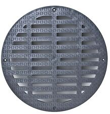 """Storm Drain FSD-3017-G20B 20"""" Round Flat Grate for Catch Basin"""