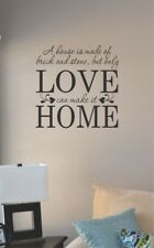 a house is made of brick and stone vinyl wall art decal sticker home house decor