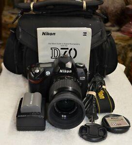 Nikon D70 Digital SLR Camera - with Nikon-AF-S-Nikkor 18-55 MM Lens + Bag