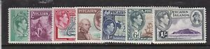 PITCAIRN ISLANDS 1940 KGVI PART SET TO 1/-  HINGED MINT