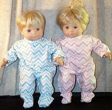 "Doll Clothes Baby Made 2 Fit American Girl 15"" Bitty Twins 2pc Pajamas Rick Rack"