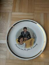 President And Mrs. John F. Kennedy 9 Inch Porcelain Collector's Plate-Great Cond