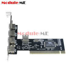 High Speed 480Mbps 5 Port USB 2.0 PCI Hub Card Controller Adaptor Module MO