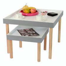 Pine Contemporary Side & End Tables with Flat Pack