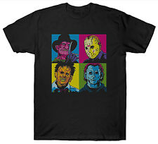 HORROR FILM MOVIE T SHIRT 1980'S CULT FRIDAY THE 13TH KRUGER HALLOWEEN WARHOL