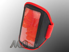 Running Sport Armband Case Cover for Samsung Galaxy Note N7000/2 N7100/I717 RED