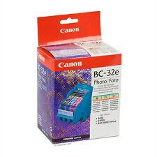 CARTUCCIA CANON BC-32e - KIT 3 CART. COLORE + TESTINA -  NUOVA - ORIGINALE CANON