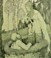 Heinrich VOGELER (1872-1942) Worpswede,Fischer & Bröckelmann-Grafik: FROSCHKÖNIG
