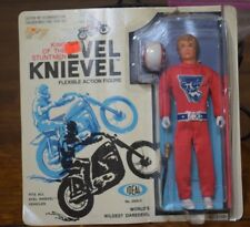 EVEL KNIEVEL 1972 CARDED FIGURE IN RED, NEW