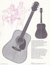VINTAGE AD SHEET #2161 - 1971 EPIPHONE GUITAR - MODEL FT-155 DELUXE FLAT TOP