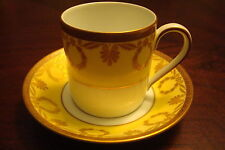 Hutshernreuther Wallace England coffee cup/saucer gold garlands [*a5-B1]