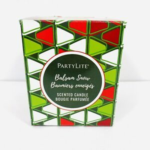 Partylite Christmas Candle Balsam Snow
