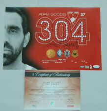 ADAM GOODES SYDNEY SWANS HAND SIGNED 304 CAREER GAMES PRINT LIMITED OFFICIAL