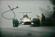 Jacky Ickx  SIGNED 12x8 , Scuderia-Ferrari 312/68 , German GP Nurburgring 1968