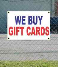2x3 WE BUY GIFT CARDS Red White & Blue Banner Sign NEW Discount Size & Price
