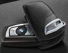 Original BMW Schlüsseletui aus hochwertigem Leder mit Metallspange Basis