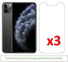 3x iPhone 11 Pro Max Anti-Scratch Screen Protector w/ cloth