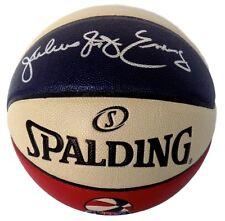 76ers Dr. J Julius Erving Autographed Signed ABA Basketball JSA COA