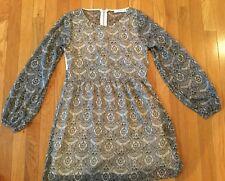 Abercrombie & Fitch Dress Size X-Small XS Black White Floral Print Lace Back