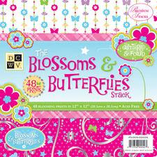 Paper Stack 12x12 48/Pkg-Blossoms & Butterflies