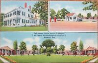 Berwyn, MD 1940s Linen Postcard: Del Haven White House Cottages - Maryland