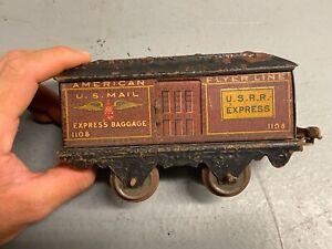 American Flyer Lines O Gauge Prewar 1108 Express Baggage Mail Car U.S.R.R