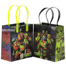 Ninja Turtles TMNT Authentic Licensed Reusable Small Party Favor Goodie 12 Bags