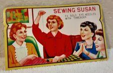 "Vintage Sewing Needle Card Folder Case ""Sewing Susan"""