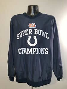 Men's Indianapolis Colts Champions Super Bowl XLI Pullover Windbreaker Jacket M
