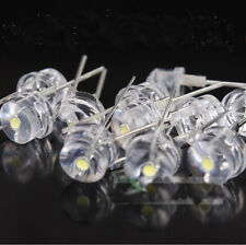 10pcs Straw Hat 8MM 0.5W White LED Light Emitting Diode DIP Bulb