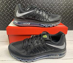 Nike Air Max 2015 Mens Size 11 Shoes CN0135 001 Black Volt Wolf Grey
